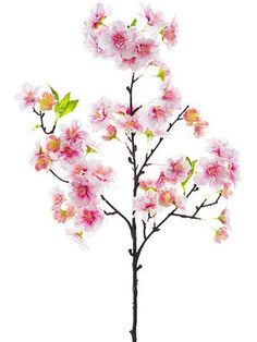 """Faux Cherry Blossom Spray in Pink 18"""" Tall"""