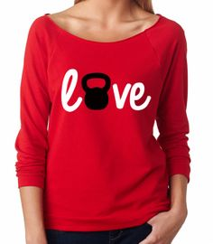 Crossfit Sweatshirt. Love Kettlebell. Fitness by Built2InspireU, $27.00