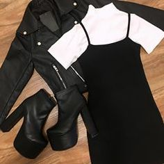 Best Edgy Outfits Part 5 Teenage Outfits, Teen Fashion Outfits, Edgy Outfits, Retro Outfits, Cute Casual Outfits, Grunge Outfits, Look Fashion, Korean Fashion, Summer Outfits