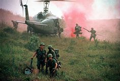Vietnam War 1968 - Troops of the 1st. Cavalry Division during an operation near the Ashau Valley