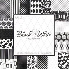 "Indulge yourself with the elegant palette and fresh prints in this Black and White Paper Pack from the Paper Studio.     	The designs feature fun patterns of dots, flowers, stars, argyle and more that are sure to dress up your layouts, handmade cards, and other projects.    	There are 5 each of 20 different designs for a total of 100, 12"" x 12"" sheets.  Acid & lignin free."
