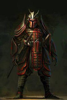 Samurai Star Wars - Boba Fett