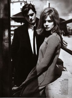 Photographed around Brighton Beach England by Mert & Marcus and styled by the famous Grace Coddington, featuring Natalia Vodianova and British actor Sam Riley for Vogue US Sept11.