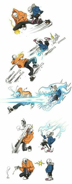 Undertale and Underswap Sans vs Papyrus - Sans seems to gain the upper hand, and raise Pap's anger Underswap Papyrus, Undertale Undertale, Undertale Comic Funny, Undertale Drawings, Frisk, Fan Art, Bad Timing, The Villain, Funny Comics