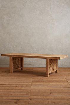 Handcarved Fretwork Dining Table, Rectangle - anthropologie.com