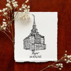 """""""Our present circumstances may not change, but through God's compassion, kindness, and love, we will all receive more than we deserve."""" #ElderRenlund .  .  .  Kyiv Ukraine Temple, My Tiny LDS Temple - @rosaclairstudio"""