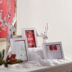 Decorate for the holidays easily by adding Holiday Paper in frames, click through and we'll show you how