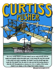 Curtiss Pusher Model D for coloring