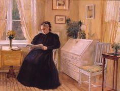 Naiskuva | Albert Edelfeltin, Alexandra Edelfelt keltaisessa salongissa 1902