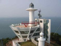 OLD AND NEW PALMIDO LIGHTHOUSES, INCHEON HARBOR, SOUTH KOREA- by Port of Incheon photo