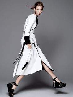 razor's edge: karlie kloss by david sims for vogue july 2014
