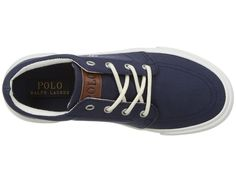 Polo Ralph Lauren Kids Faxon II (Little Kid) Kid's Shoes Navy Canvas/Paper White PP