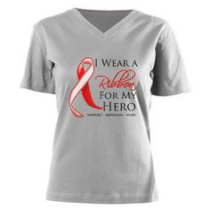 Aplastic Anemia I Wear a Ribbon For My Hero  shirts, apparel and gifts #aplasticanemia #aplasticanemiaawareness #aplasticanemiashirts