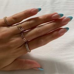 Simple Acrylic Nails, Best Acrylic Nails, Simple Nails, Aycrlic Nails, Swag Nails, Hair And Nails, Nagellack Design, Nagellack Trends, Nail Jewelry
