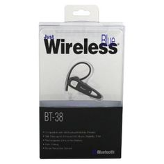 I'm learning all about Just Wireless BT-38 Bluetooth Headset - Black at @Influenster!