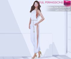 7468944707b4 Second Life Marketplace - Full Perm Rigged Mesh Ladies Side Slit Jumpsuit  With… Second Life
