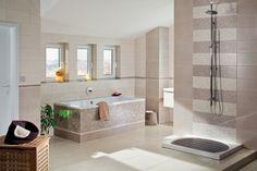 Koupelna s obklady série Textile působí nadčasově a romanticky díky květinovým dekorům. Obklady jsou v přírodních barvách s textilní strukturou. #keramikasoukup #koupelnyodsoukupa #koupelnyinspirace #textile #modern #bathroom #pure #romantic #inspirace #rako #madebyrako Bathroom Mirrors Uk, Bathroom Vinyl, Bathroom Wall Decor, Bathroom Ideas, Contemporary Bathroom Inspiration, Contemporary Bathrooms, Dyi Bathroom Remodel, Bathroom Renovations, Best Bathroom Flooring