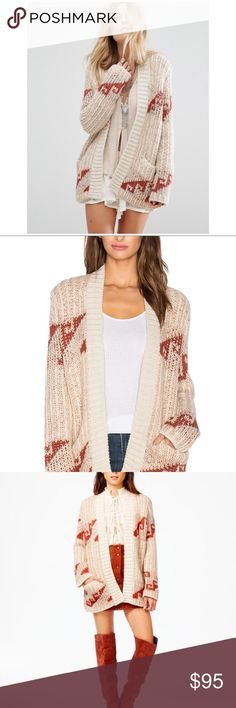Free People Time Again Cardigan 🍁🍁 Details - Open front - Long sleeves - 2 front pouch pockets - Patterned knit construction - Imported Fiber Content 70% acrylic, 30% wool Care Hand wash cold Additional Info Fit: this style fits true to size. Free People Sweaters Cardigans