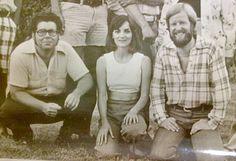 Photographer Mike Weber, reporter Linda Kettner and assistant editor Mike Wegner (1976)