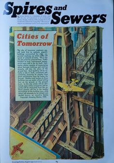Cities of Tomorrow Cities, Sci Fi, Cover, Books, Vintage, Art, Art Background, Science Fiction, Libros