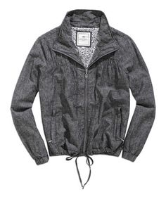 Look what I found on #zulily! Black & Gray Linen-Blend Zip-Up Jacket by TIMEOUT #zulilyfinds