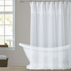 ***Love this White Lace Shower Curtain