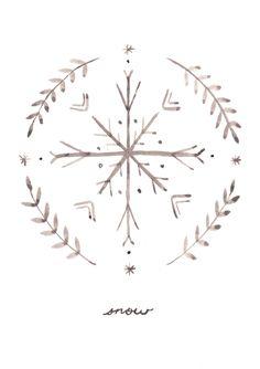 hand drawn snowflake
