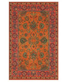 ordered this red, orange and turquoise carpet as a runner for our main foyer