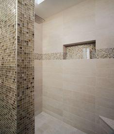 Great tiled shower niche