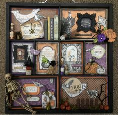 Halloween Picture Box Mom and Me Scrapbooking