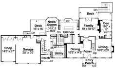 Colonial House Plan 69675 Level One