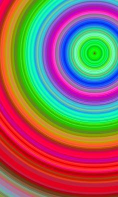 Rainbow spiral.