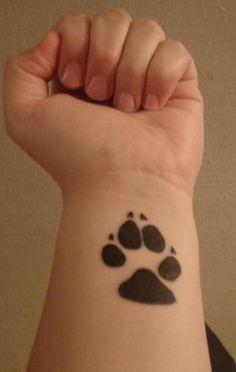 Cute Paw Tattoos On Wrist