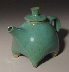 Stoneware pottery teapots by Sue Burdick Young, Jay NY
