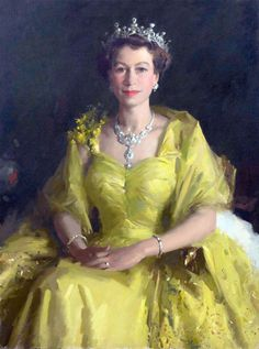 portrait by William Dargie, commisioned to commemorate the Queen's first visit to Australia in 1954.