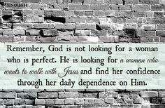 Woman who wants to walk with Jesus