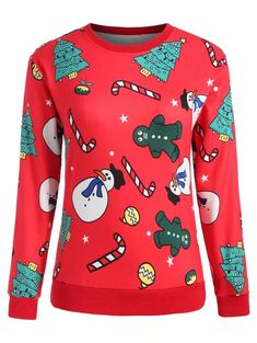 Plus Size Christmas Trees Print Sweatshirt Plus Size Hoodies, Clothing Haul, Plus Size Outerwear, Cute Clothes For Women, Tree Print, Printed Sweatshirts, Pattern Fashion, Cute Outfits, Graphic Sweatshirt
