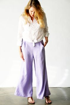 CP Shades Natural Fiber Clothing :: CP Shades Clothing 2013 :: Wendy Pant Solid Linen at Tender Treasures