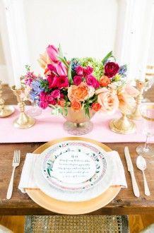 gold table decor | Ashlee Virginia Events