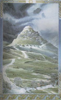 Edoras by Alan Lee