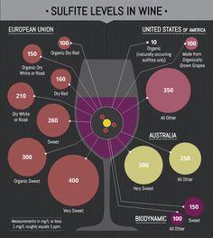 Sulfite Levels in Wine