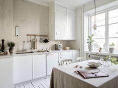 Lovely Swedish kitchen via ELLE Decoration