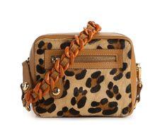 Just Cavalli Leopard Calf Hair Shoulder Bag