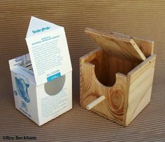 finch nesting boxes diy Milk Carton Nest Box with Flip Lid