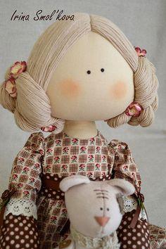 Купить или заказать СОНЕЧКА в интернет-магазине на Ярмарке Мастеров. Девчушка с любимым мишкой...