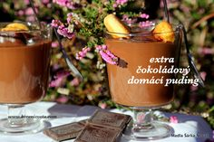 Extra čokoládový domácí puding nádherně sametový Candle Jars, Candles, Moscow Mule Mugs, Tableware, Dinnerware, Tablewares, Candy, Candle Sticks, Dishes