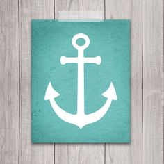 Anchors away with this nautical anchor printable art!