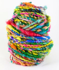 Superhero  Hand spun art yarn by MagnoliaHandspun on Etsy, $21.60