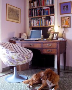 Home office with remodified chair