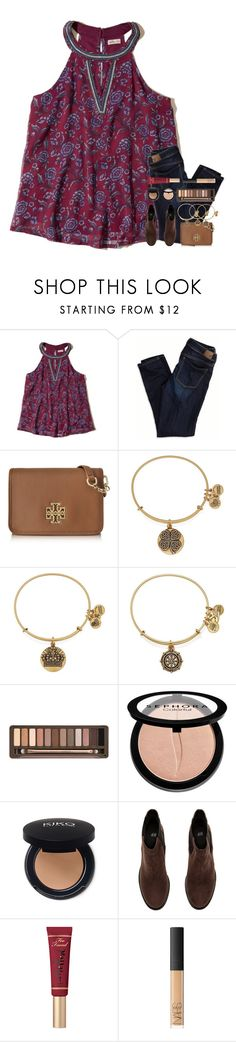 """""""Let Me Hold Your Crown, Babe"""" by theafergusma ❤ liked on Polyvore featuring Hollister Co., American Eagle Outfitters, Tory Burch, Alex and Ani, Urban Decay, Sephora Collection, H&M, Too Faced Cosmetics and NARS Cosmetics"""